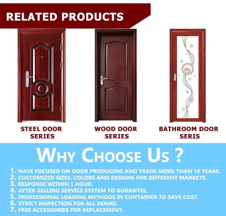 TPS-052 Double Modern Cheap Wrought Iron Door Manufacture