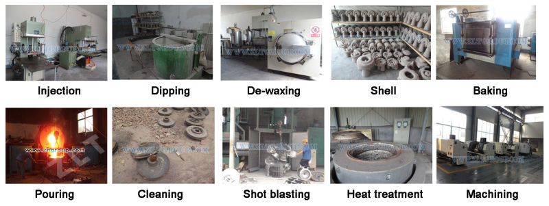 Stainless Steel Spare Parts for Lost Wax Casting