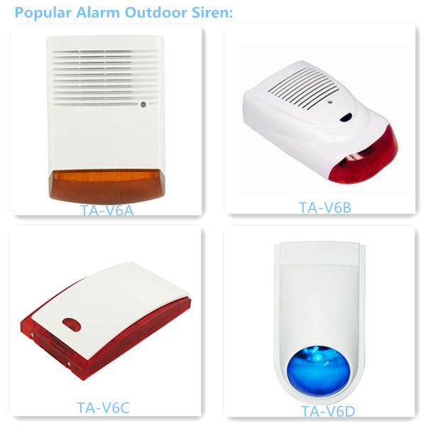 Alarm Security Products Electronic Siren, Outdoor Single Tone Siren