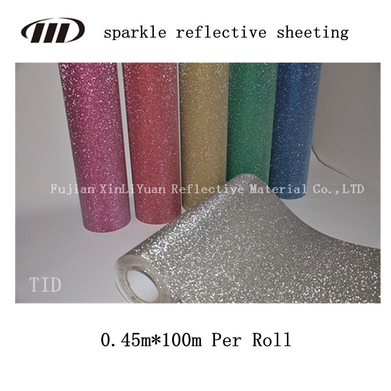 Sparkle Reflective Sheeting for Shoes Bags Garments Decoration