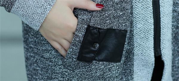 Women Autumn Zipper Casual Blazer Coat