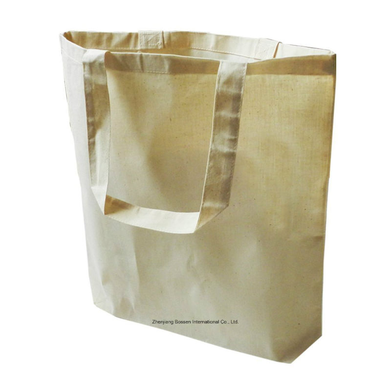 OEM Produce Customized Logo Printed Promotional Cotton Canvas Tote Craft Hand Bag