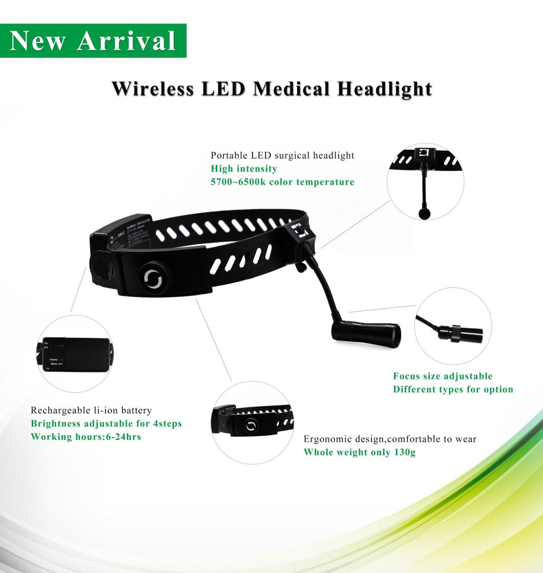 Jd2300 7W Wireless LED Dental Ent Surgical Headlamp