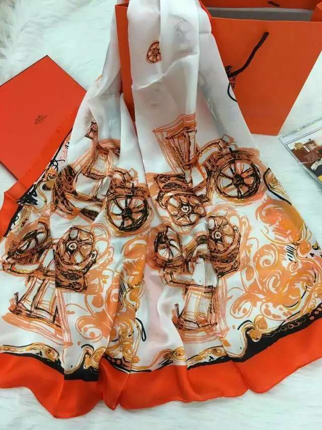 High Quality Customizable Digtial Printed Silk Scarf Fashionable
