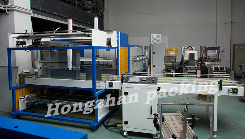 L Shape Cutter Automatic Sealing Machine for Board Ceramics Beverage Metals with Photo Cell Sensor and 3 Side Seal Packing