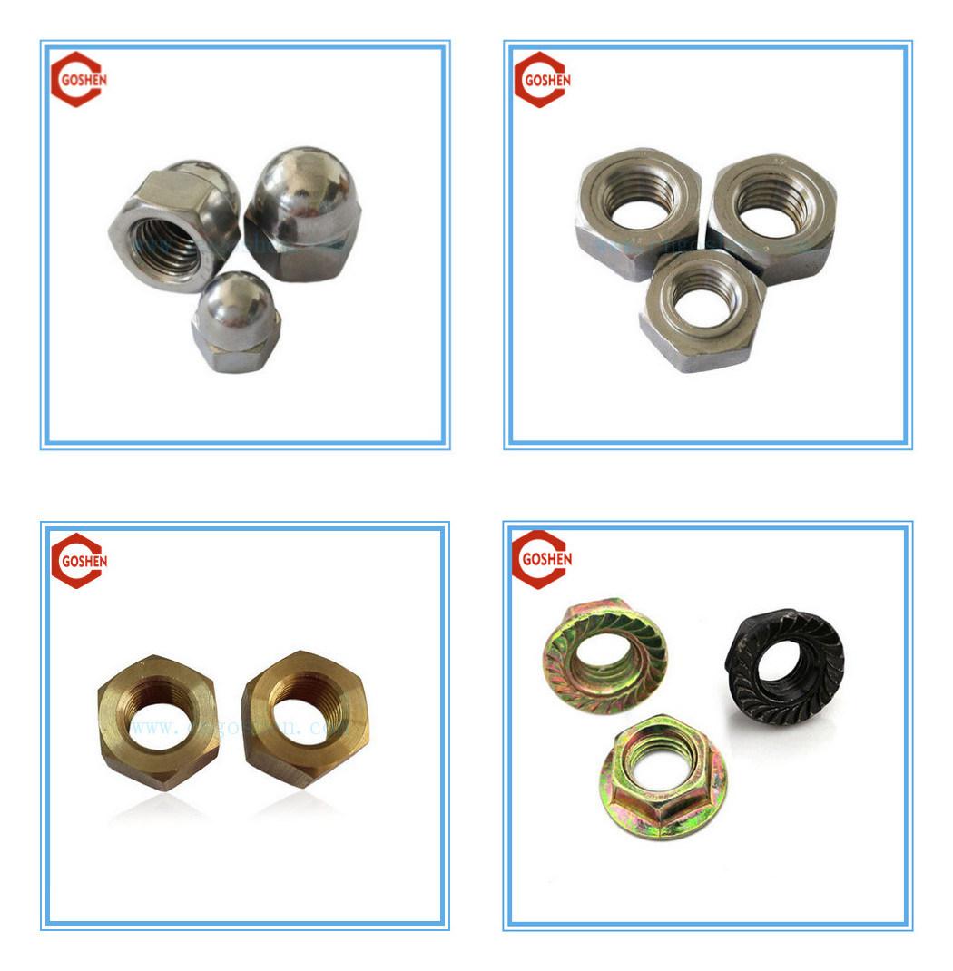 DIN985 Hex Nylon Insert Lock Nut / Steel Hex Nylon Nut