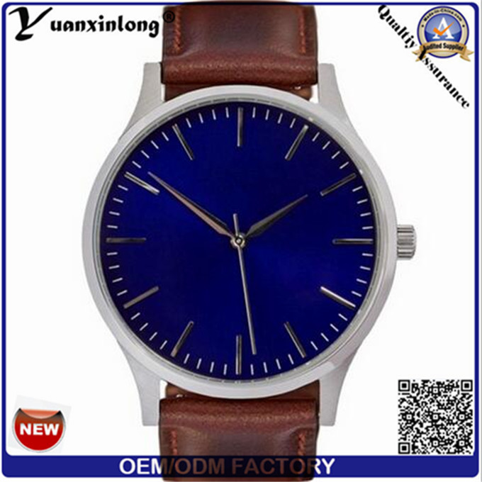 Yxl-379 Simple Design Military Watch Leather Strap Mvmt Quartz Vogue Trendy Wristwatch Mens Watches Wholesale