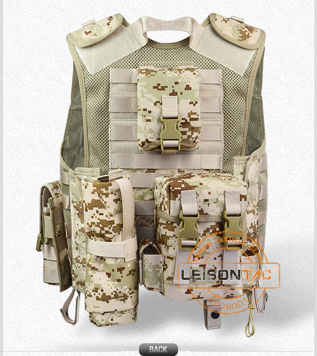 Tactical Mesh Vest with Magazine Pouches