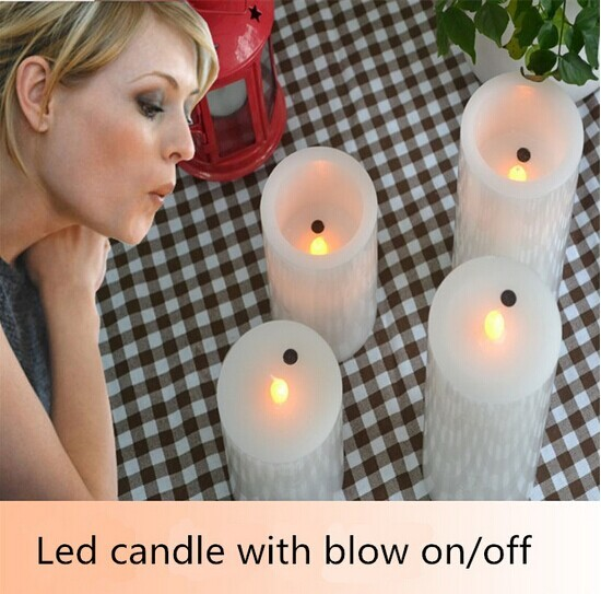 white led moving candle