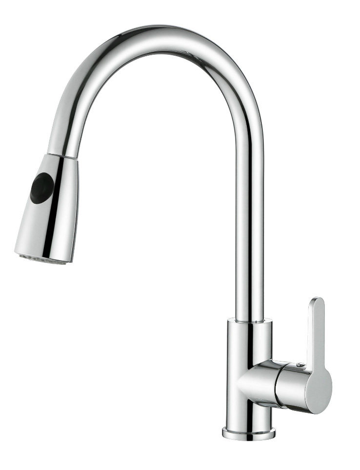 Promotional Zinc Pull-out Kitchen Faucet in Different Surface