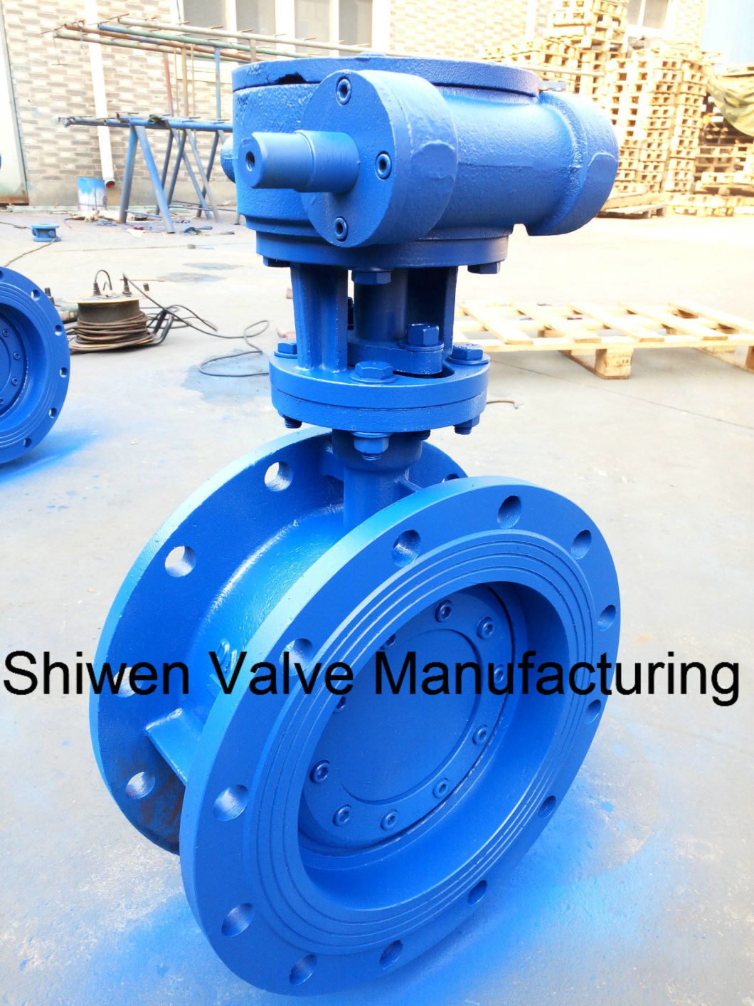 Hard/Metal Seal Triple Eccentric/Offset Butterfly Valve with Gear