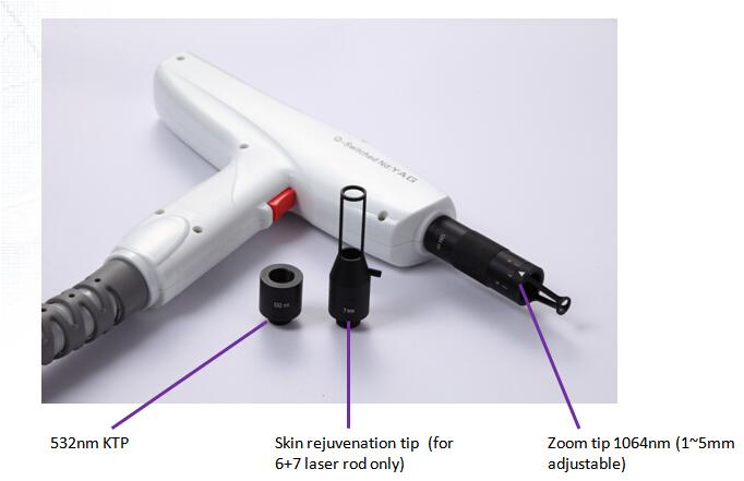 Portable Q Switch ND YAG Laser / Handheld YAG Laser Tattoo Removal