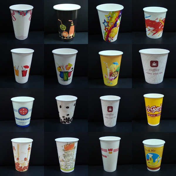 16oz Paper Cups Hot Cold Coffee Tea Disposable Party Drinks