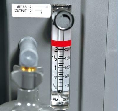 5L Low Noise Compact Oxygen Concentrator with Double Flowmeter (JV525KS-DF)