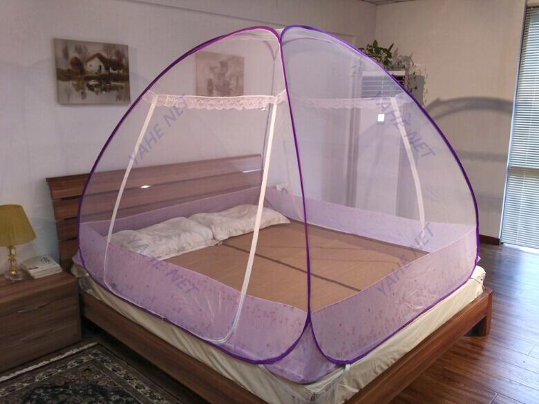 Mosquito Nets for Double Bed Netting with Zipper Double Door