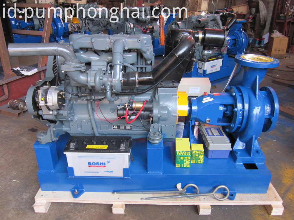 pump driven by diesel engine