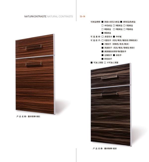 Anti Scartch MDF Kitchen Cabinet Doors with Handles (zhuv)