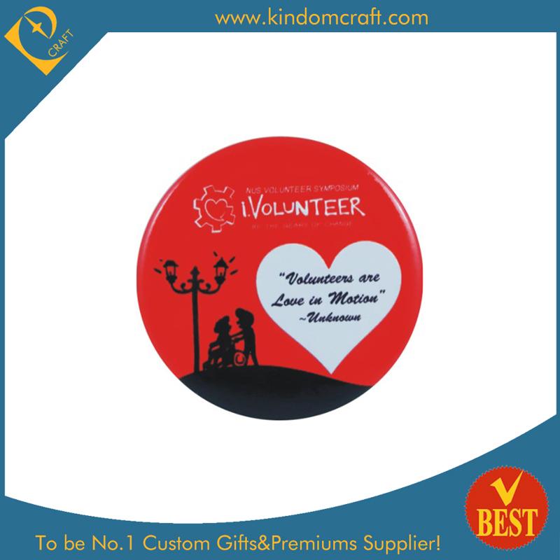 Volunteer Tin Button Badge in Cheap Price