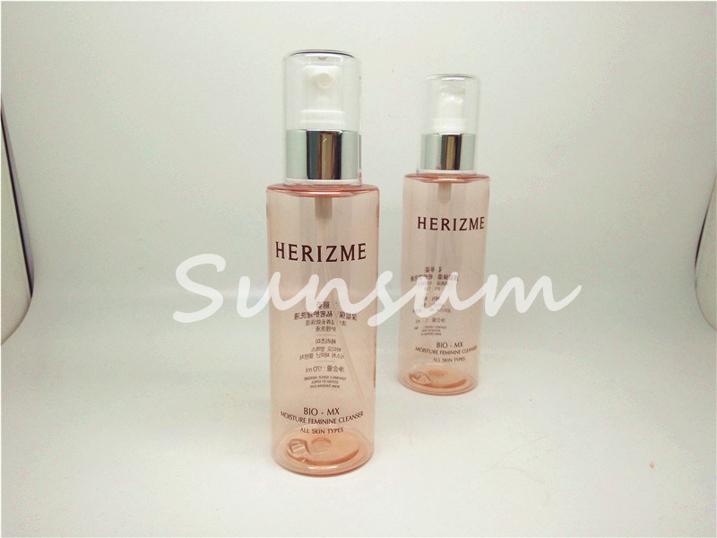Silver Gold Square Quality Plastic Cosmetic Packaging Spray Bottle