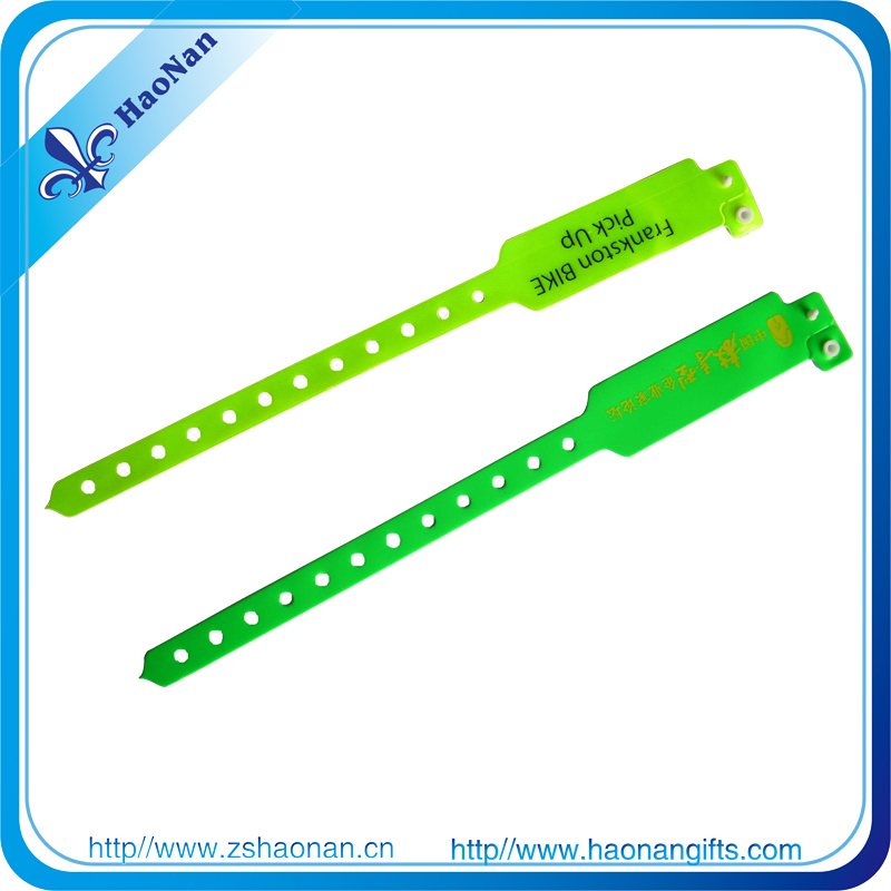 Color Printed PVC Snap Wristband ID Wristbands