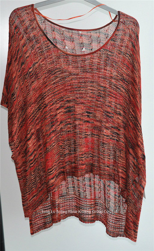 100%Viscose Ladies Round Neck Patterned Sweater Pullover