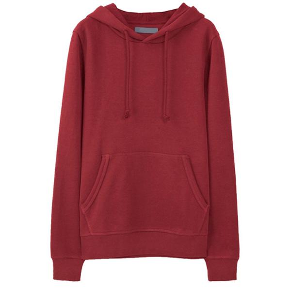 2016 Best-Seller Product Red Color Blank Men's Stringer Hoodie