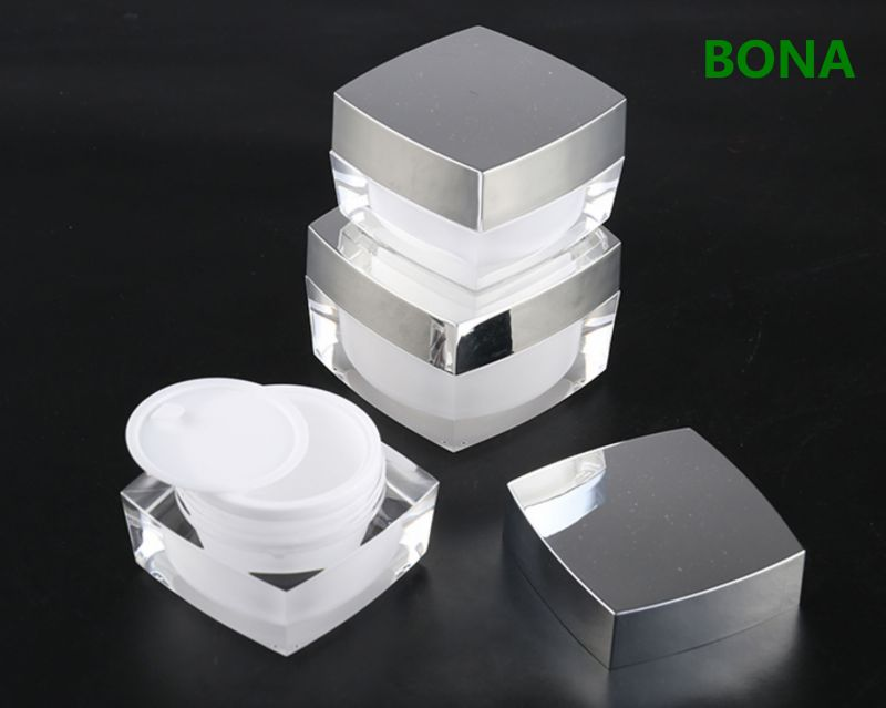 Clear Cosmetic Jar for Cream and Lotion