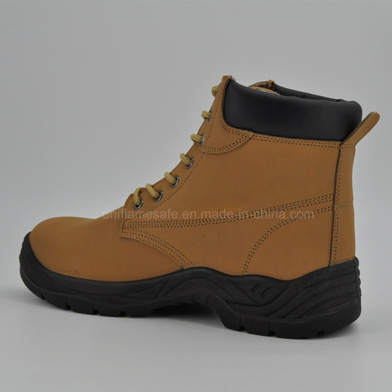 High Quality Leather Middle Cut Women Safety Shoes