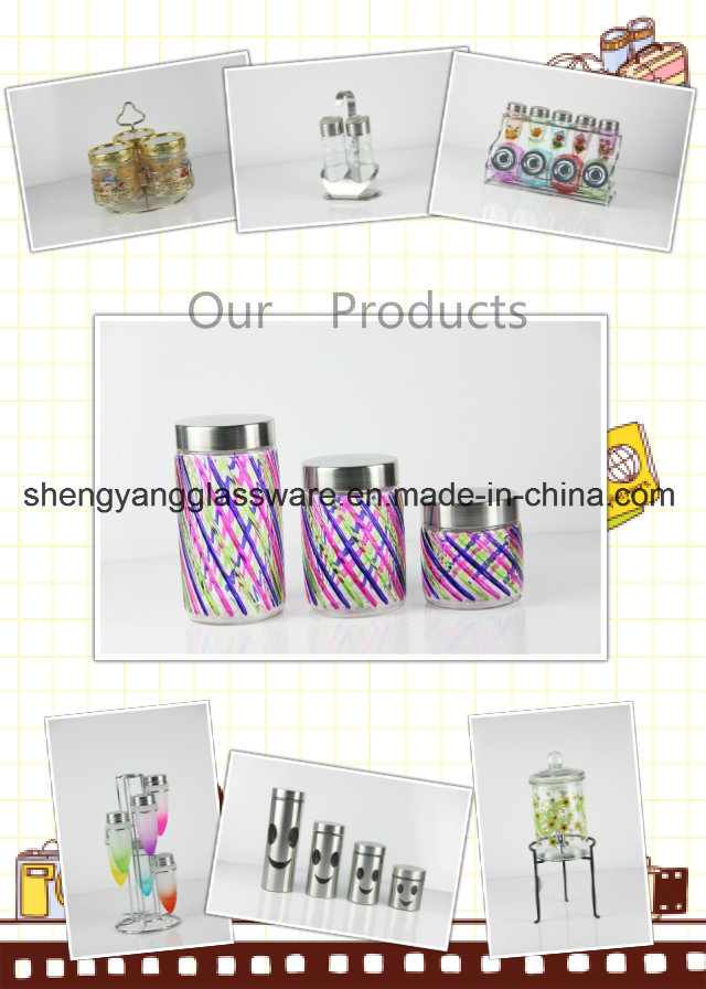 Promotional Gift Glass Bottle/Tea Cup/ Glass Mug with Metal Lid and Straw
