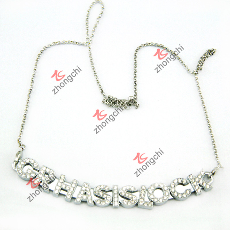 Sliver Slide Bar Necklace for Fashion Jewellry (SN-01)