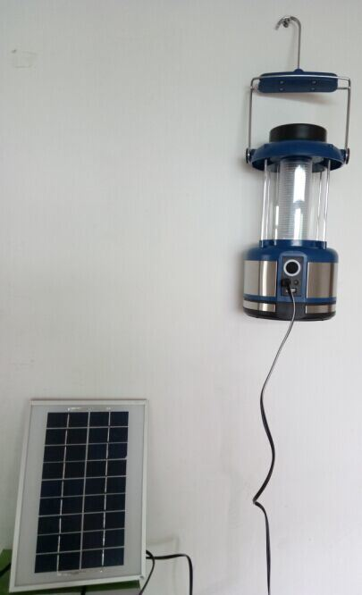 Big Power and Brightness 4W Solar LED Light Lamp Lantern with FM Radio