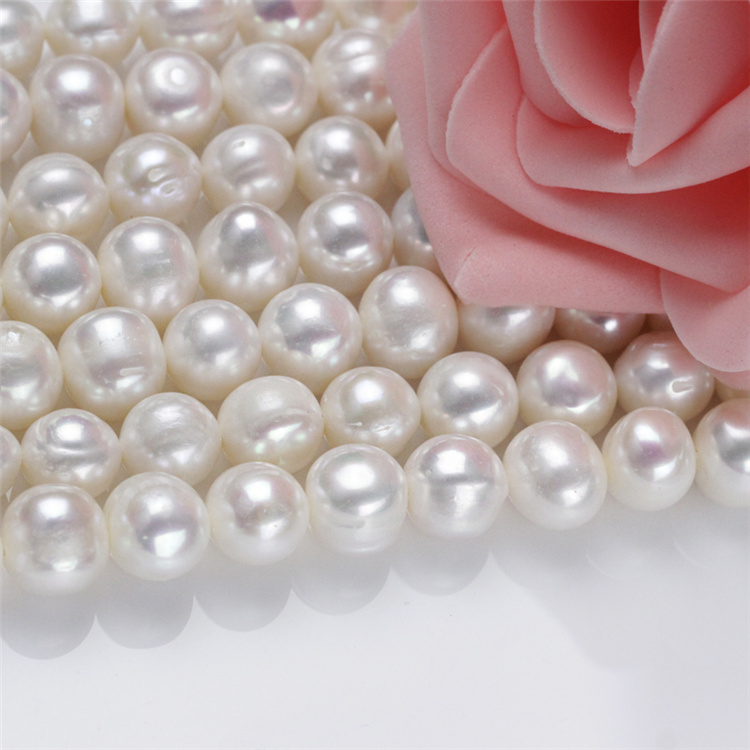 11-12mm Large Hot Sale Natural Real Freshwater Pearl Necklace Strand