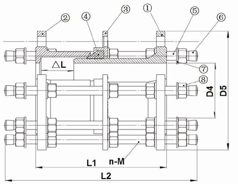 Ductile Iron Dismantling Joints (Galv. / Dacromet bolts)