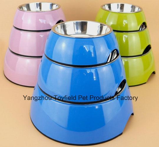 Dog Feeder Bowl Bamboo Power Portable Cat Pet Bowl