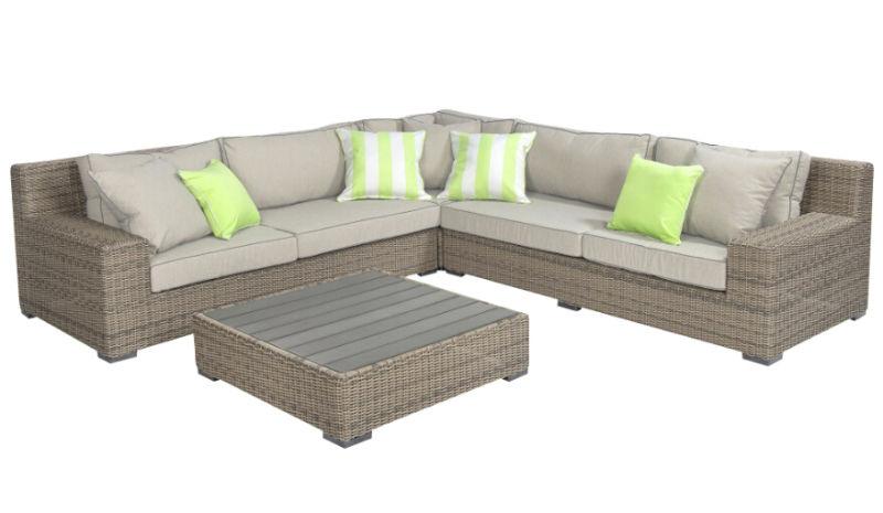 Outdoor Rattan Furniture Garden Wicker Sofa Lounge Set
