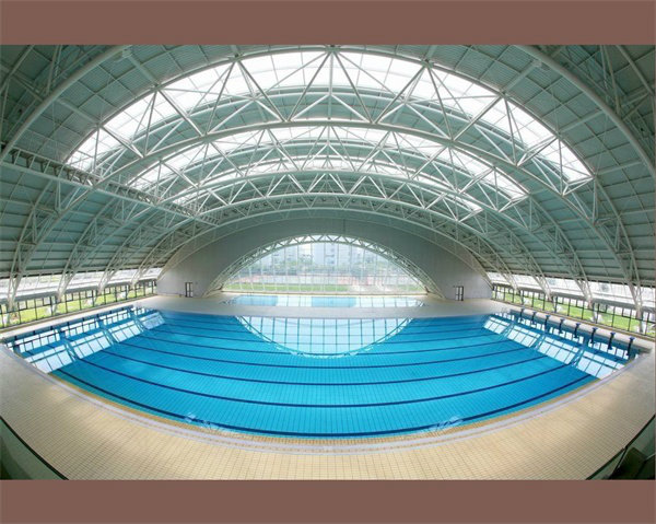 Prefab Steel Space Frame for Swimming Pool Roof Covering