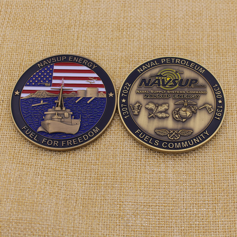 High Quality Metal Character Gold Usn Coin From China