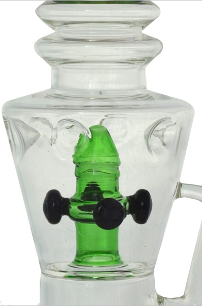 New Stemless 4 Shwerheads Hookah Glass Smoking Water Pipe (ES-GB-425)