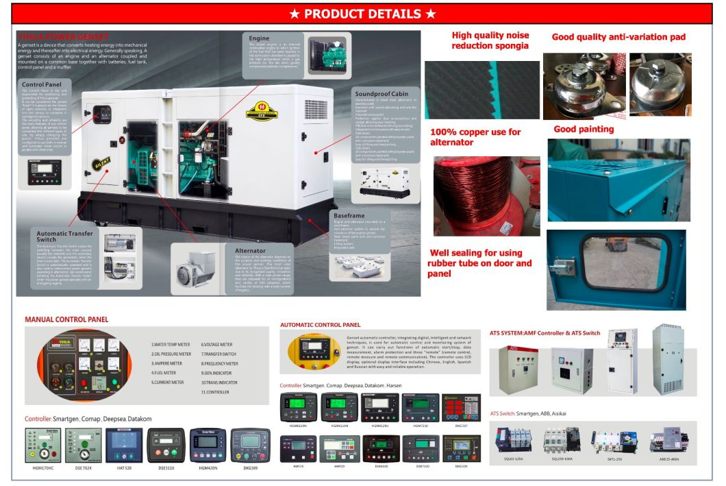 Diesel Power Generator Set with Shangchai Engine Sdec