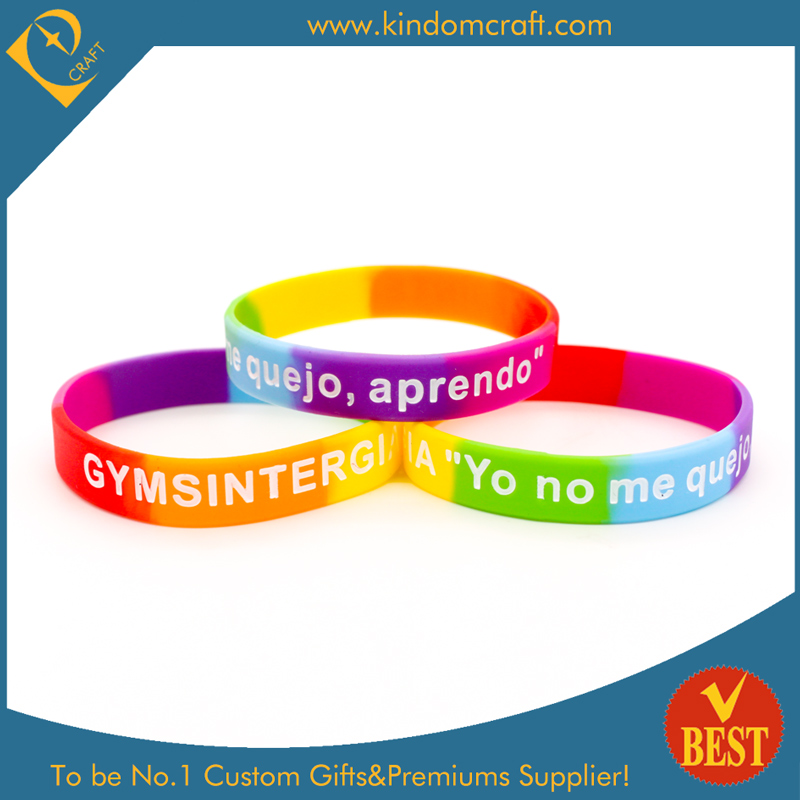 Customized Logo Printed Silicone Wristband or Bracelet for Business or Activity Promotional Gift