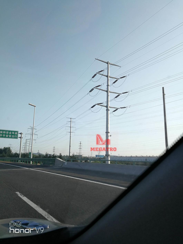 Megatro Transmission 220kv Line 220sj10-21 DC Light Angle Tension Pylon Steel Pole