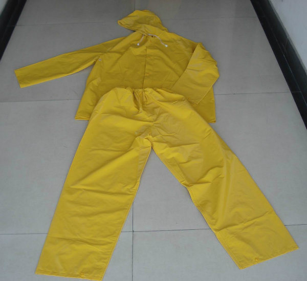 Various Yellow PVC Raincoat, Safety Rainwears, Work PVC Rainsuit, Working Raincoats, Waterproof Is Well Ventilated Raincoat
