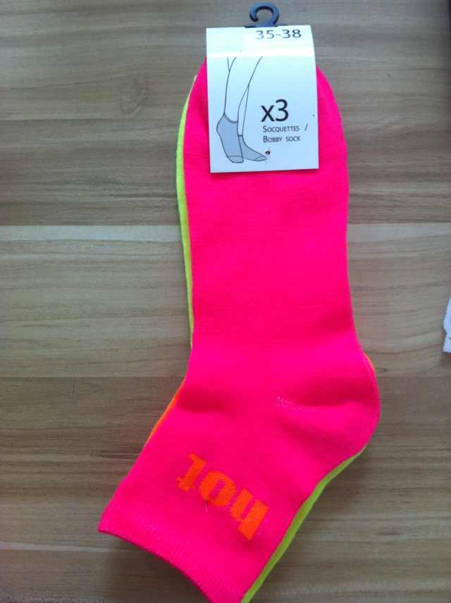 Bright Neon Color Socks Outstanding Looks Fashion Lady Socks