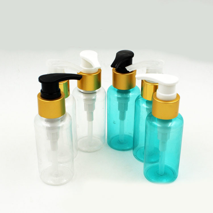 100ml Electroplate Plastic Pump Bottle for Perfume and Lotion (NB20302)