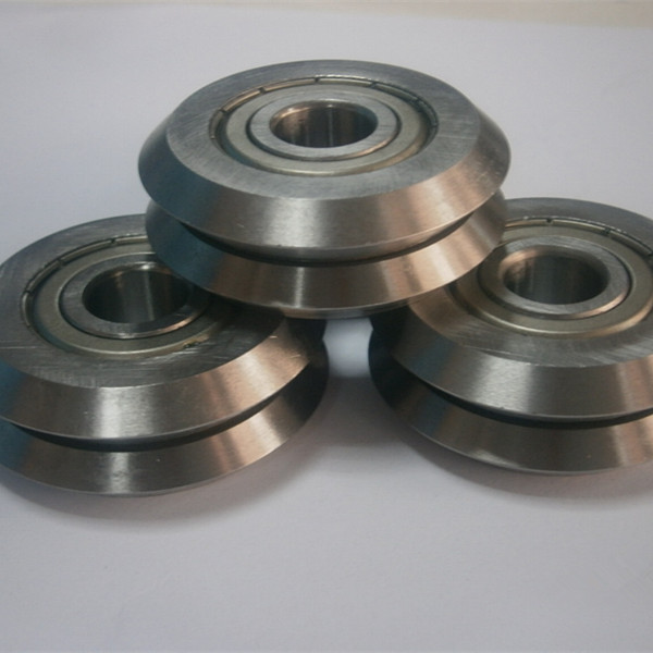 Dual V-Wheel W Groove Guide Wheel Bearing