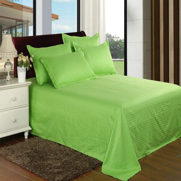 Stock Satin Stripe Bedding Set Bedsheet for Hotel/Home (DPF1059)