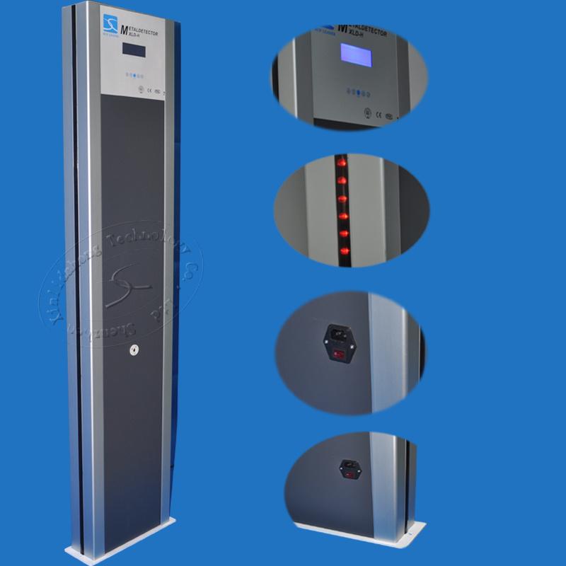 7 Inch LCD Screen 24 Zones Adjustable Sensitivity Walk Through Metal Detector