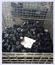 Industrial Caster Black Rubber Flat Transparent Caster