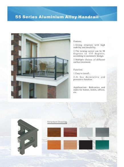 Security Commerical/Industrial Aluminum Glass Fences/Fencings/Balcony