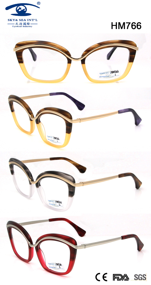 Best Design Acetate Spectacles for Wholesale (HM766)